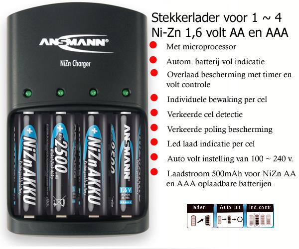 Oplaadbare batterijen Ni-MH , Varta, GP, Ansmann ,Sanyo ...